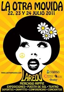 Cartel del Mercado Hippie La Otra Movida en Laredo, Cantabria