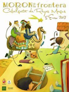 cartel de la calbagata de reyes en Moron de la Frontera del año 2013